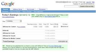 Google Adsense で高収入気分にひたるおもしろサービス Make Money With Google AdSense