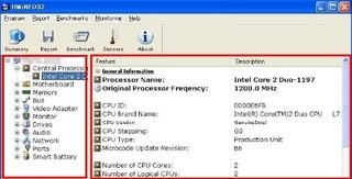 ハードウェア情報調査ツール「HWiNFO32」